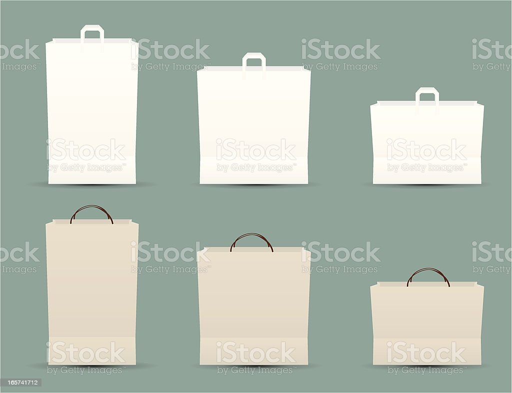 Six Paper Bags royalty-free stock vector art