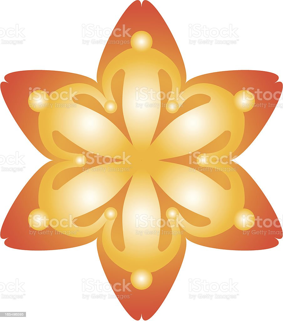 Six people Flower icon royalty-free stock vector art
