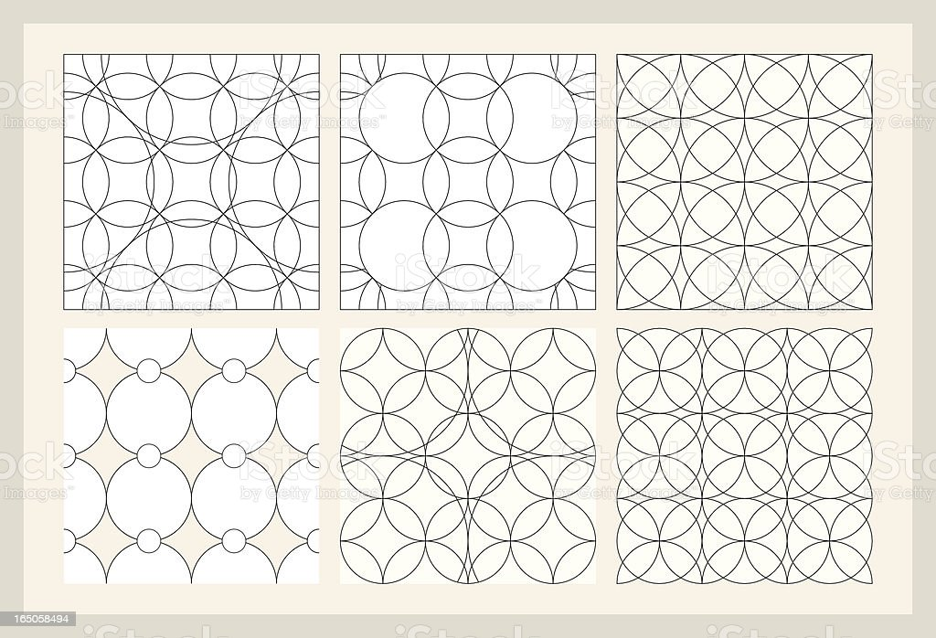 Six Repeating Patterns royalty-free stock vector art