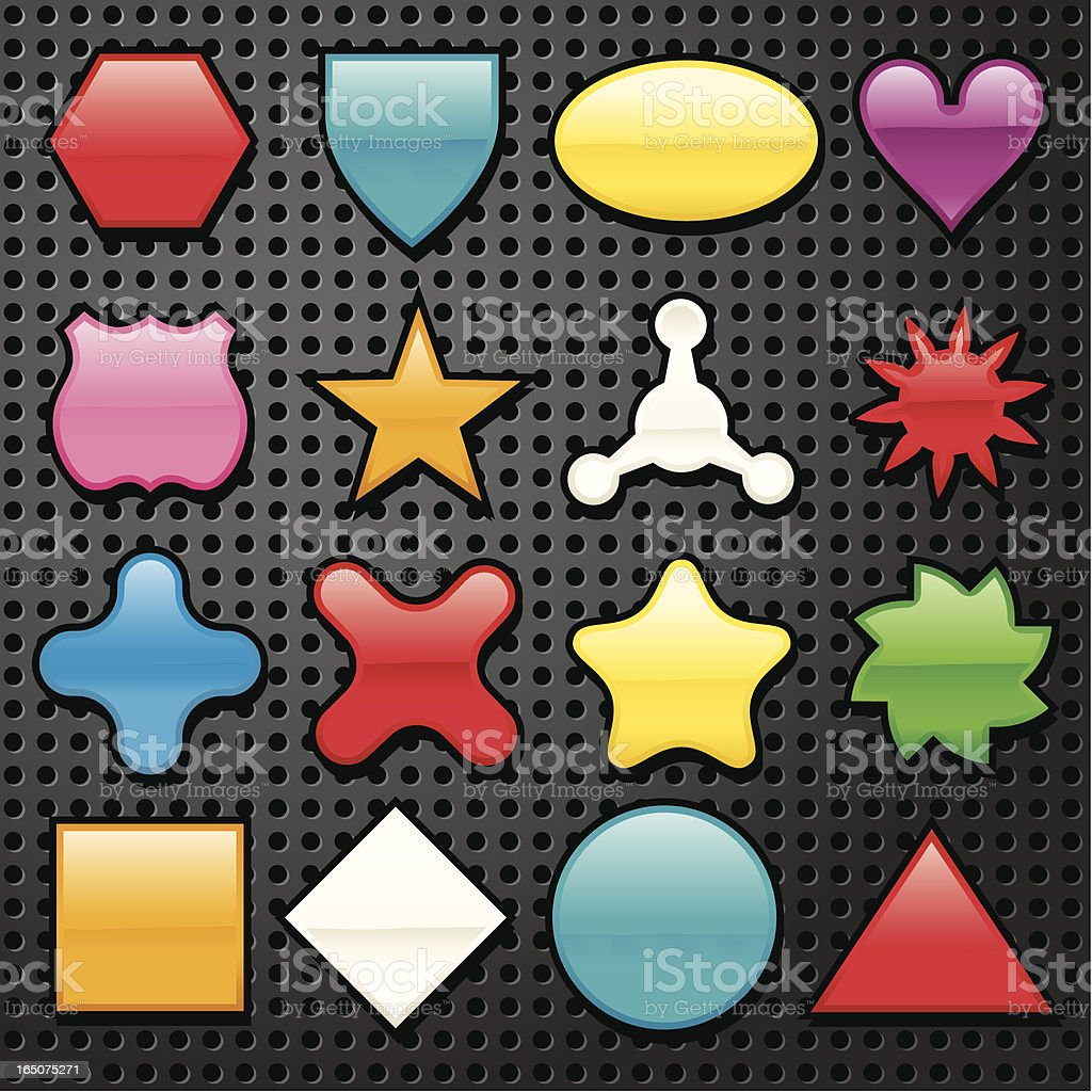 Sixteen Multi Shapes royalty-free stock vector art