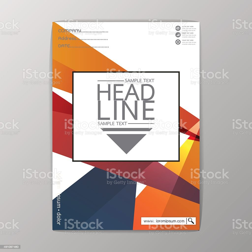 a size abstract cover background polygon brochure template flyer a4 size abstract cover background polygon brochure template flyer report vector