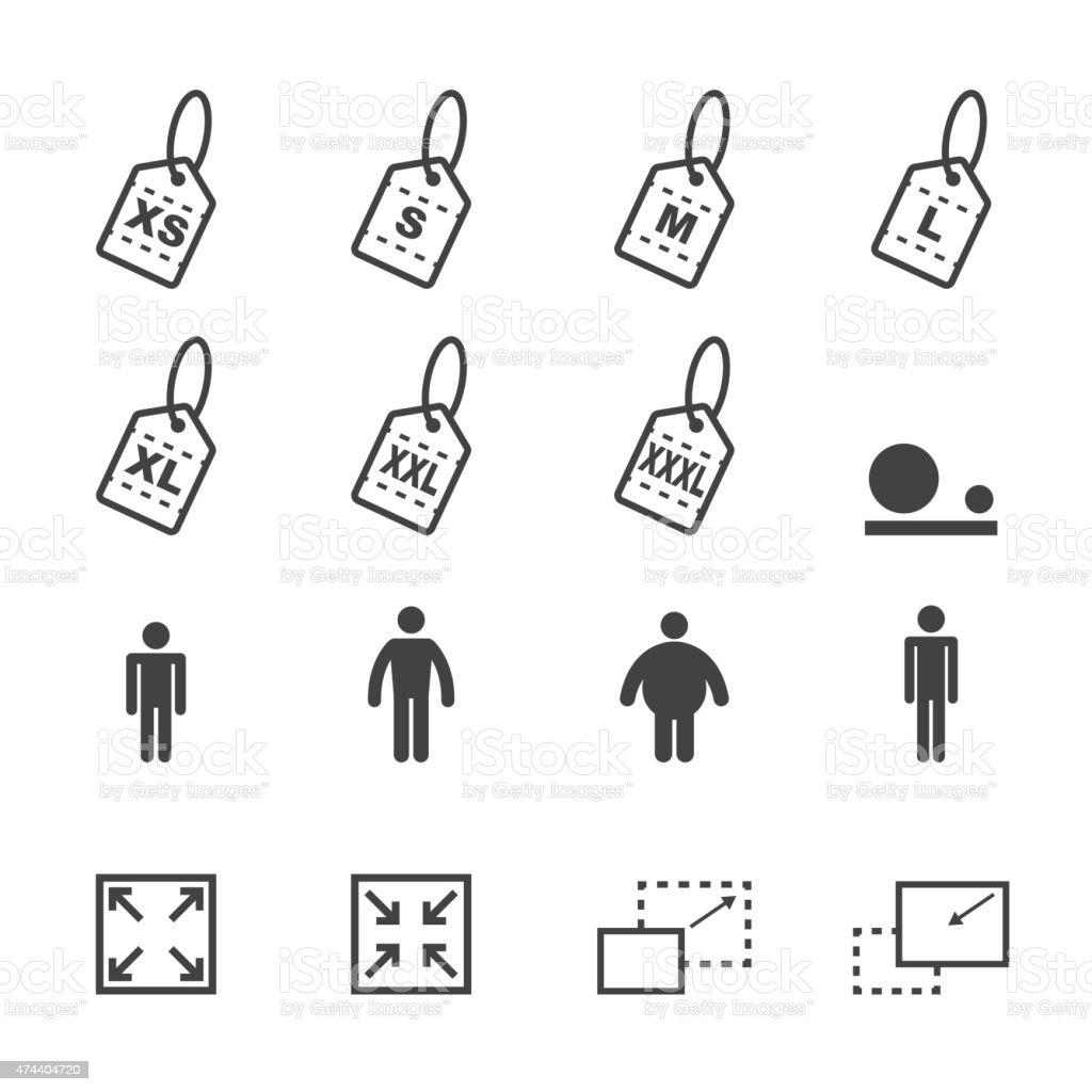 size icons111 vector art illustration