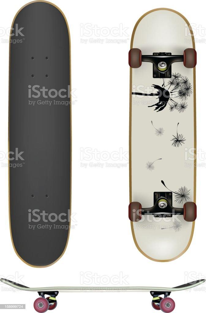 Skate Boards vector art illustration