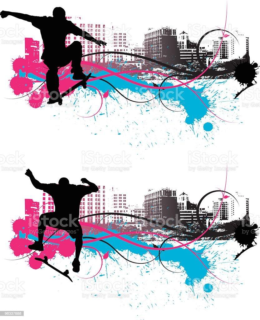 Skate City vector art illustration