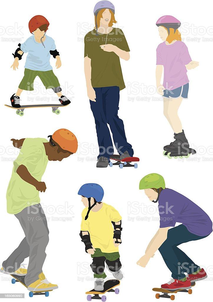 Skate Park royalty-free stock vector art