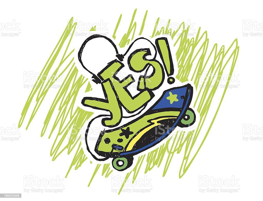skate vector art illustration