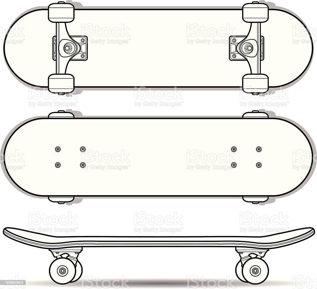 Skateboard Outline Stock Vector Art 165800903