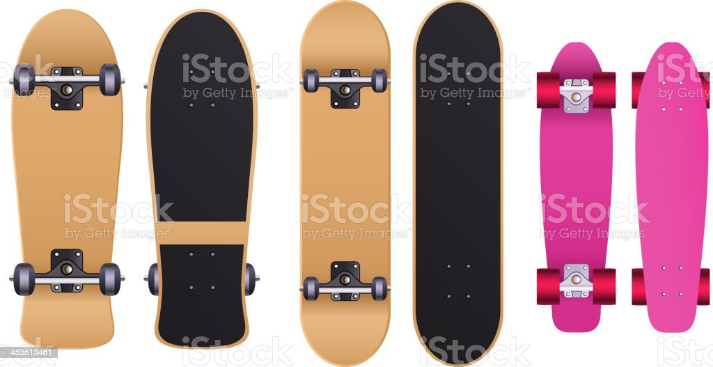 Skateboard skate set royalty-free stock vector art