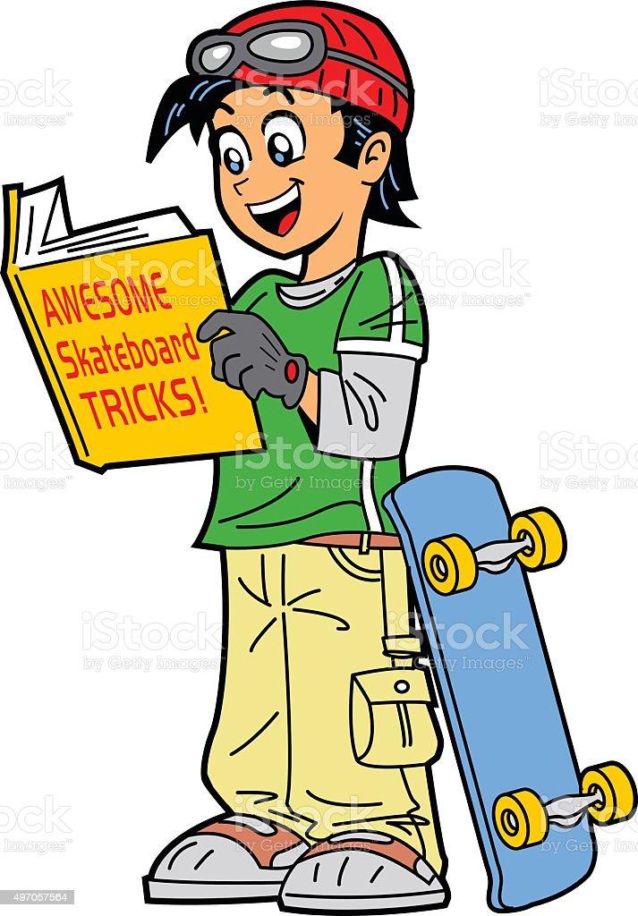 Skateboard Tricks vector art illustration