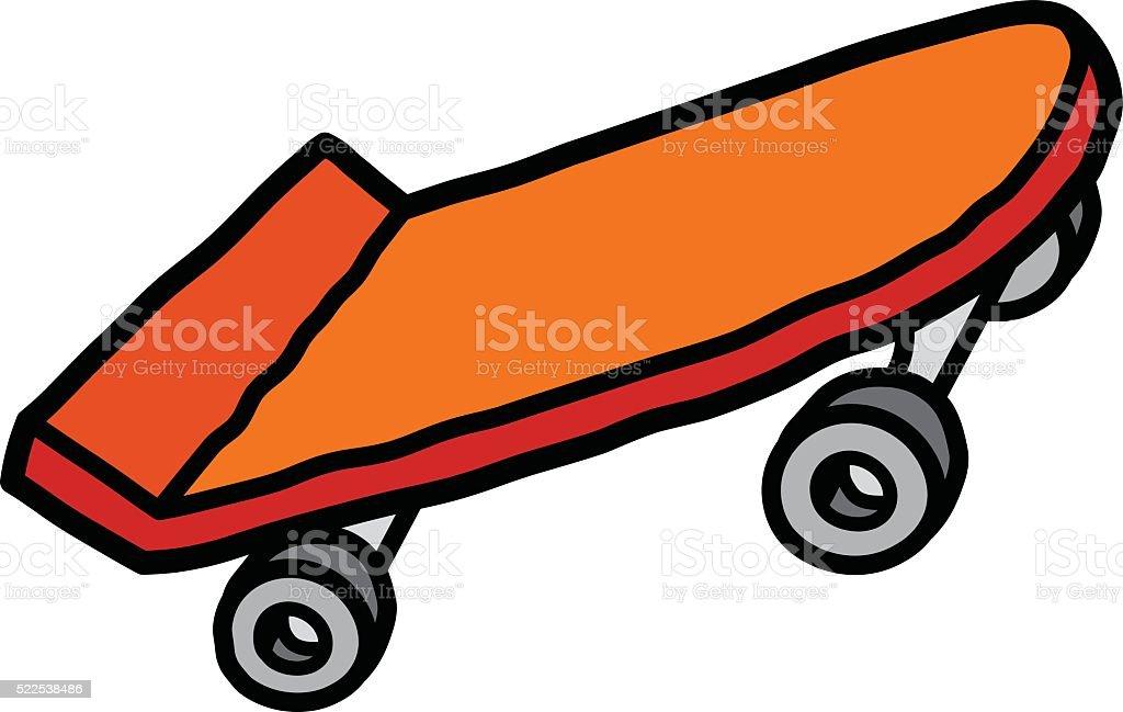 Skateboard vector art illustration
