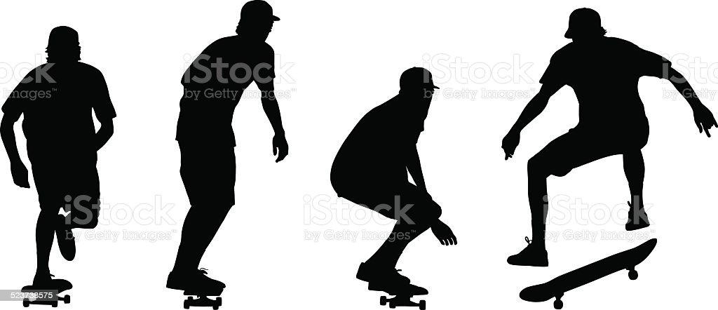 Skateboarder vector art illustration