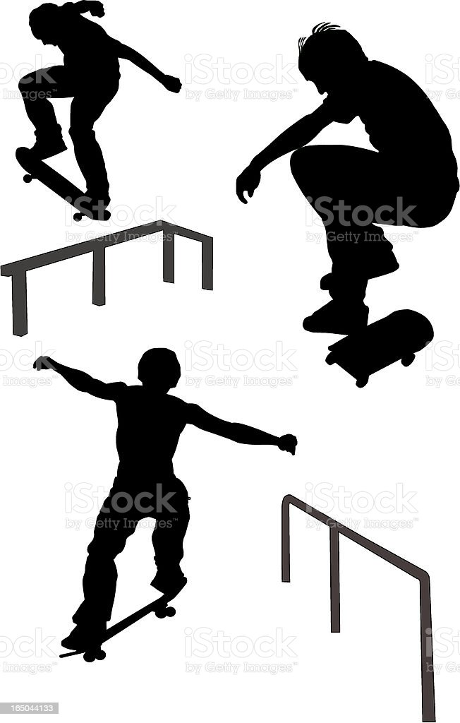 Skateboarders (Vector) royalty-free stock vector art