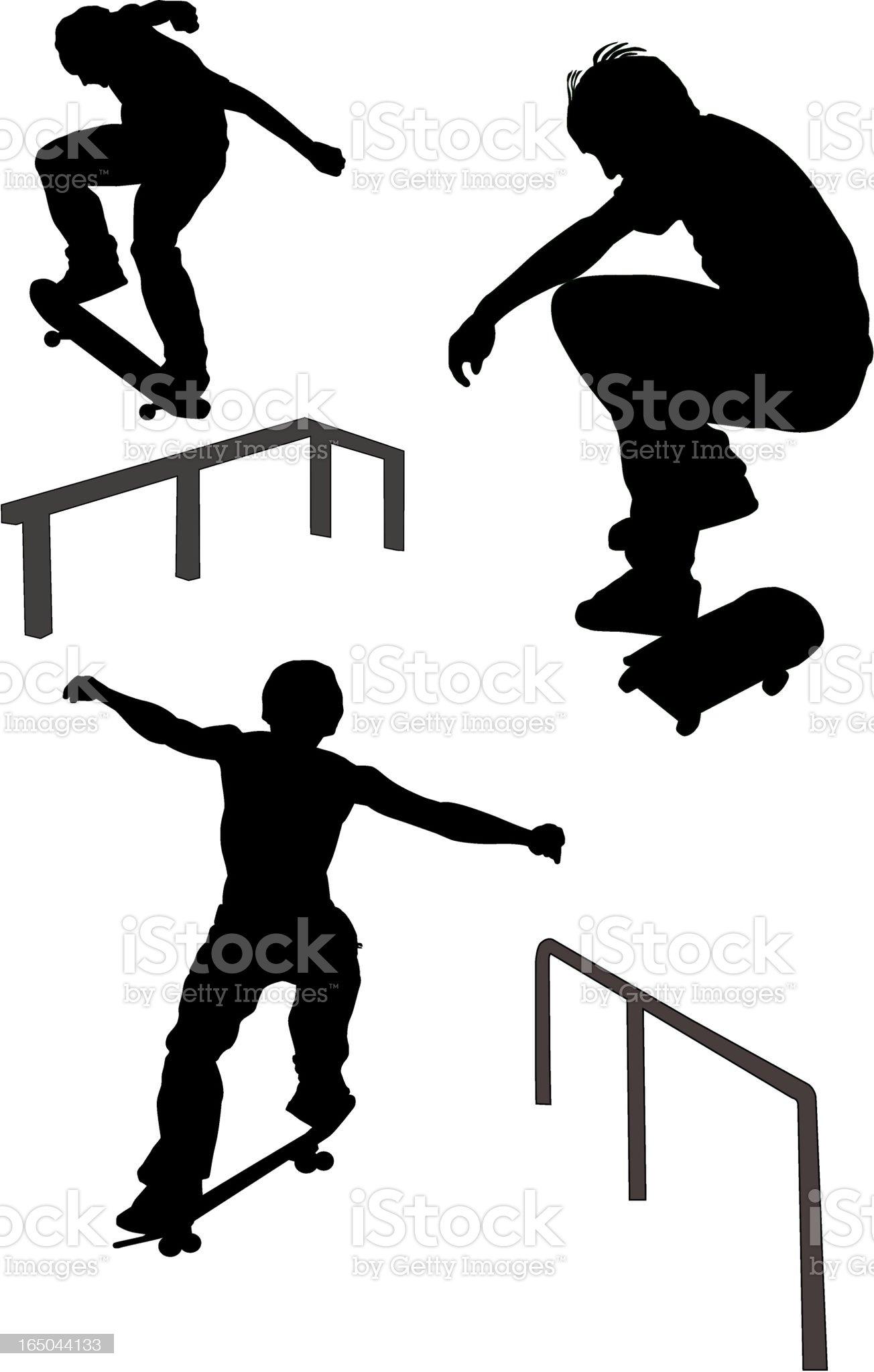 Skateboarders (Vector) royalty-free stock vector art
