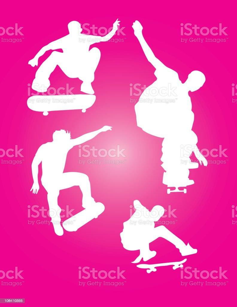 Skateboarding Illustration royalty-free stock vector art