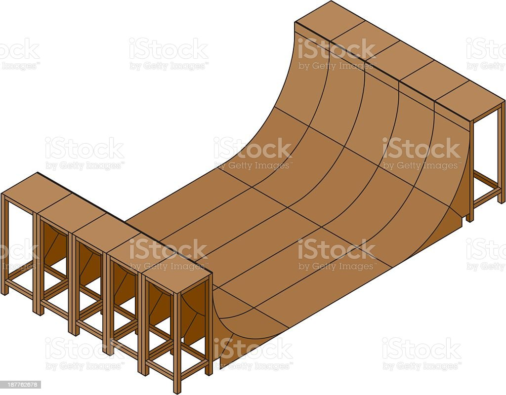 Skateboarding Ramp royalty-free stock vector art