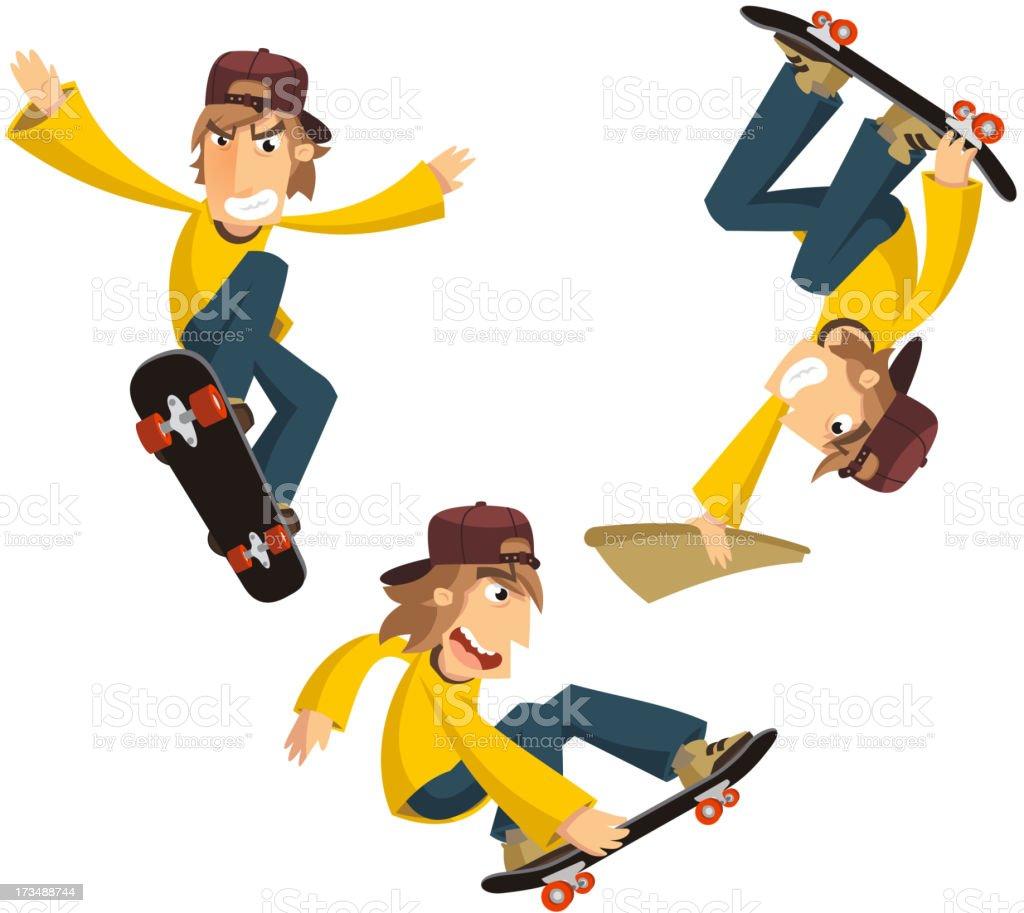 Skateboarding Tricks royalty-free stock vector art
