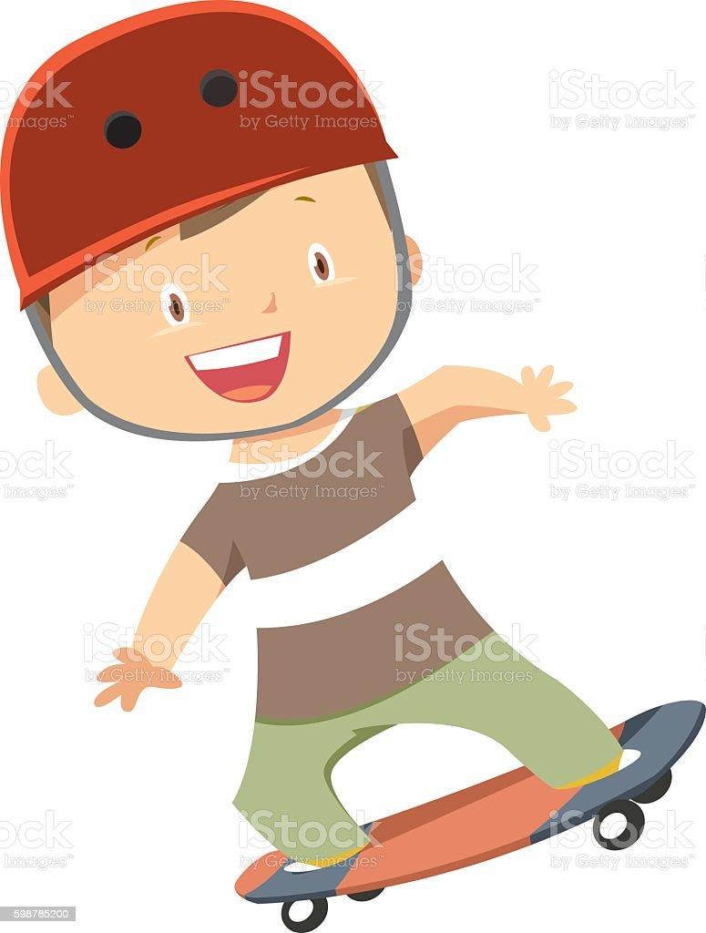 Skater Boy vector art illustration