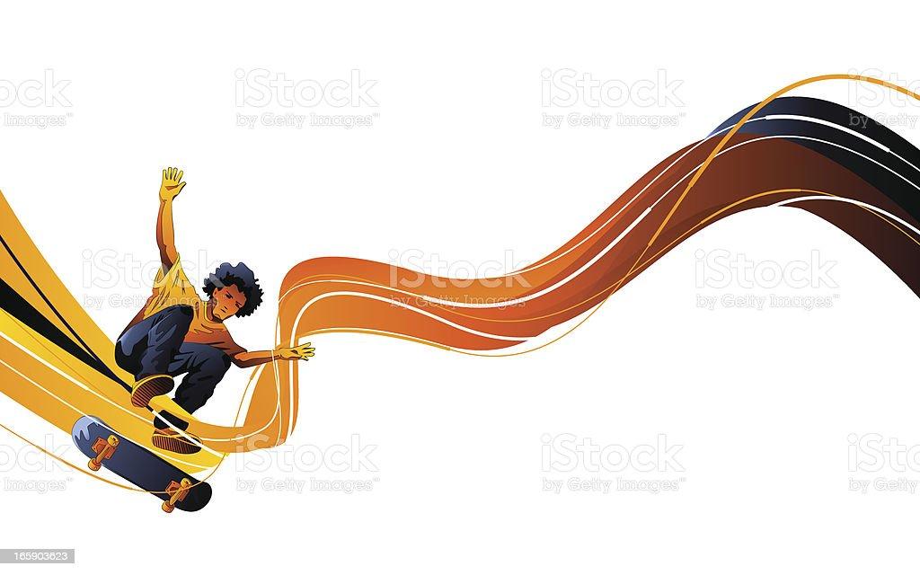 Skater Design vector art illustration