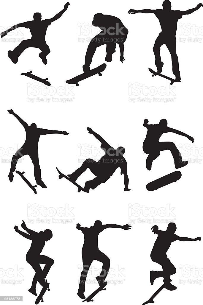 Skaters royalty-free stock vector art