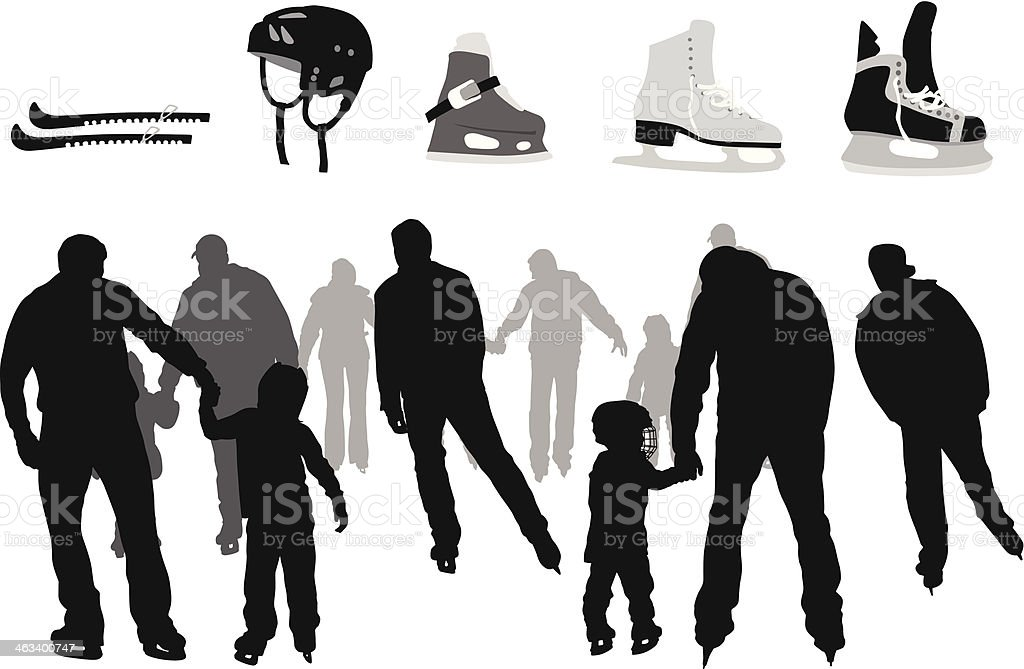Skating Equipment vector art illustration