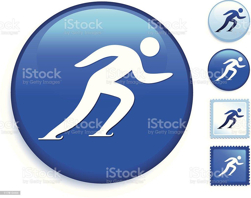 skating icon vector art illustration