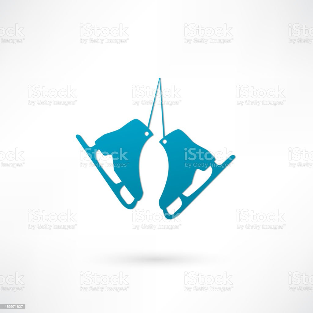 Skating Icon vector art illustration