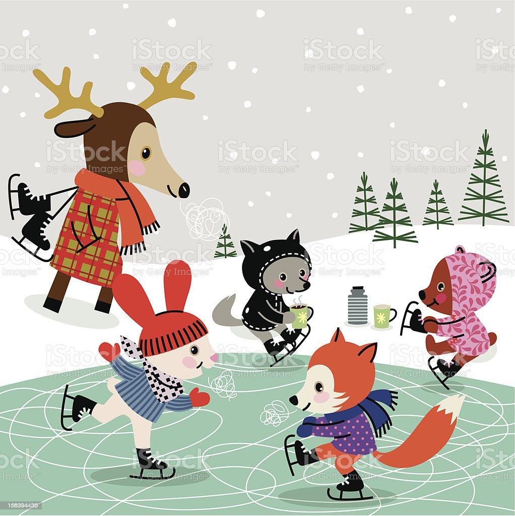 Skating Rink. vector art illustration