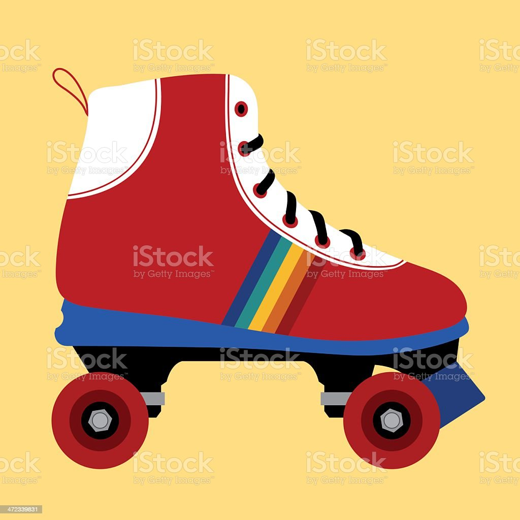 Skating shoe seventies royalty-free stock vector art