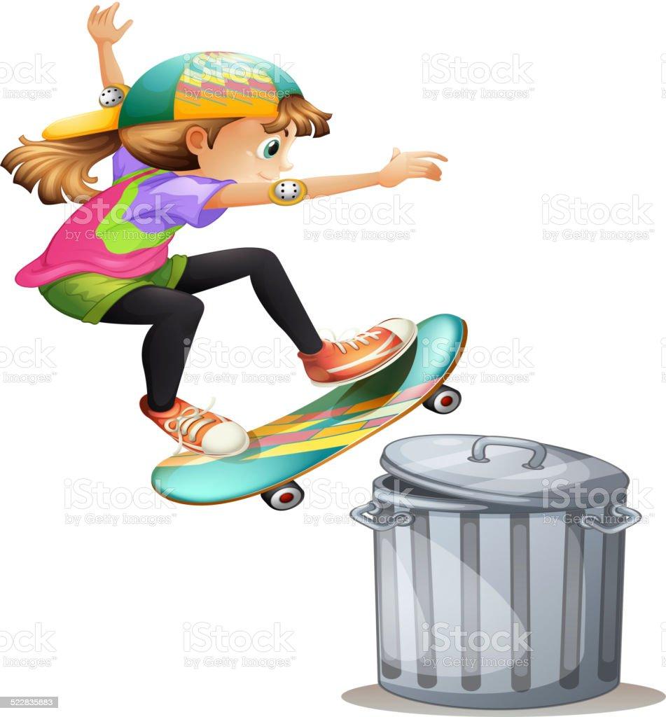 Skating vector art illustration