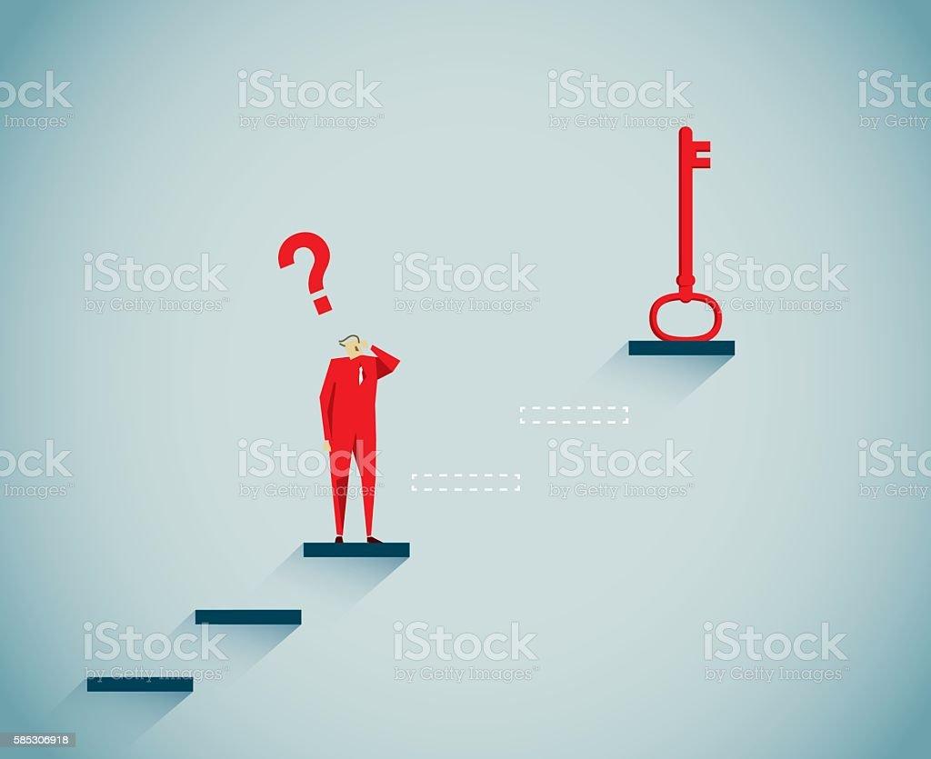 Skeleton Key vector art illustration