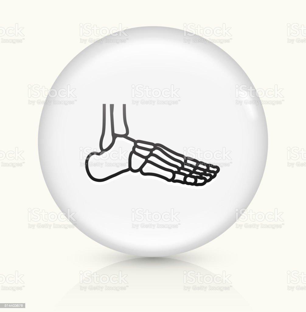 Skeleton Leg icon on white round vector button vector art illustration