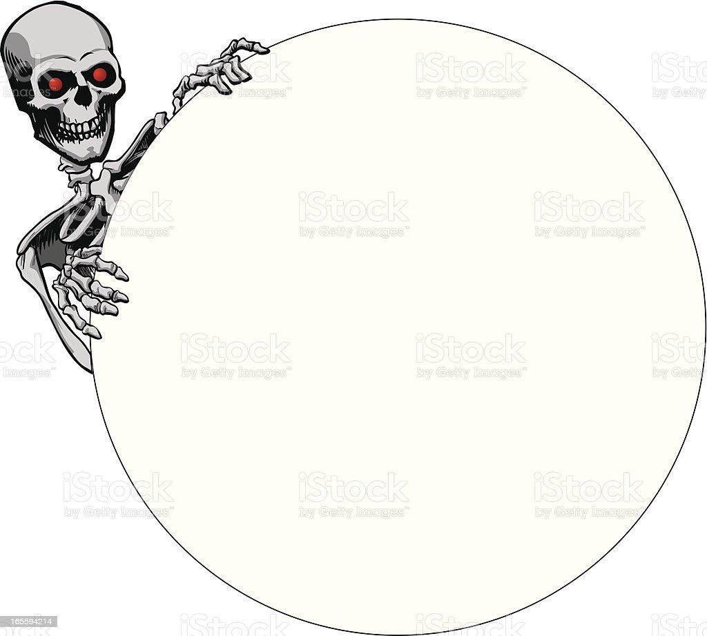 skeleton peeking royalty-free stock vector art