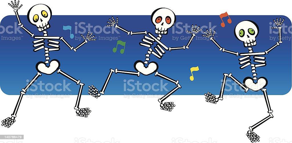 skeletons dance royalty-free stock vector art