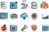 Sketch Code and Programming Icons