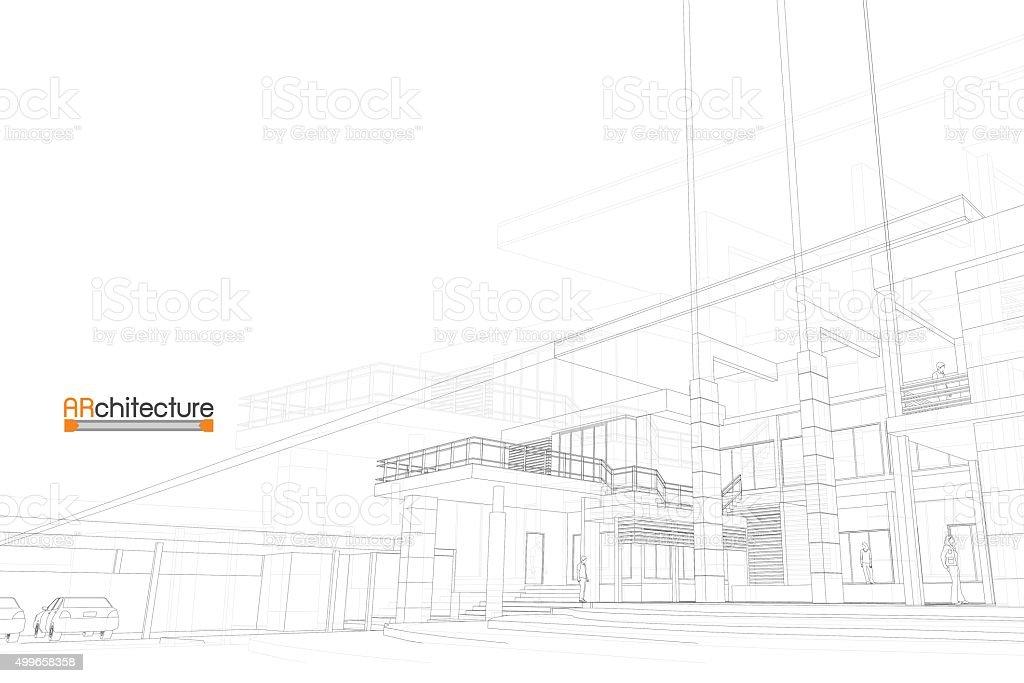 sketch design of house,vector vector art illustration