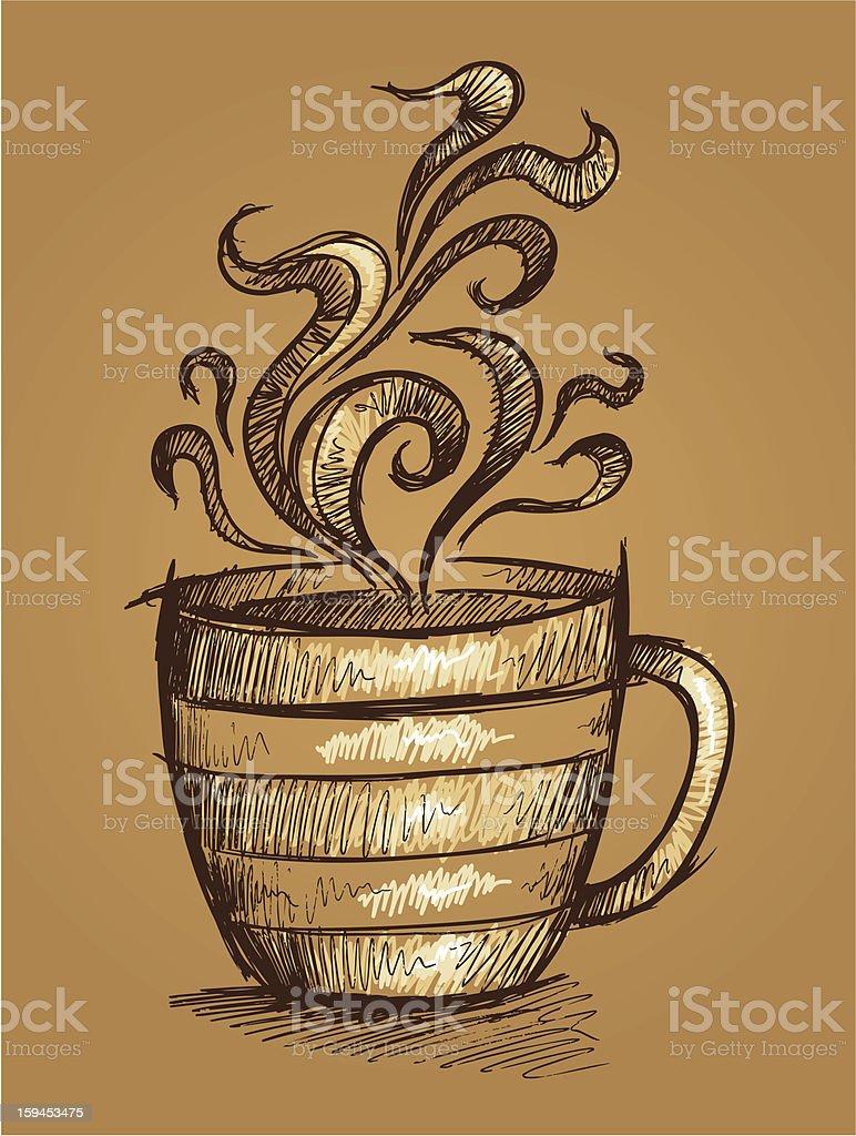 Sketch Doodle Coffee Cup royalty-free stock vector art