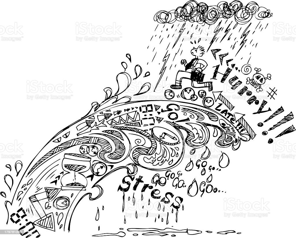 Sketch doodles: Hurry! royalty-free stock vector art