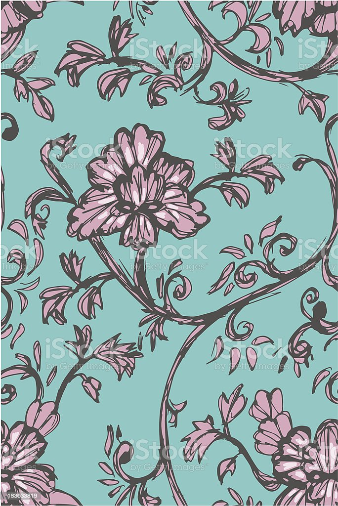 sketch floral pattern royalty-free stock vector art