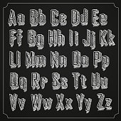 Sketch font set. with shadow. Alphabet on white background Vector