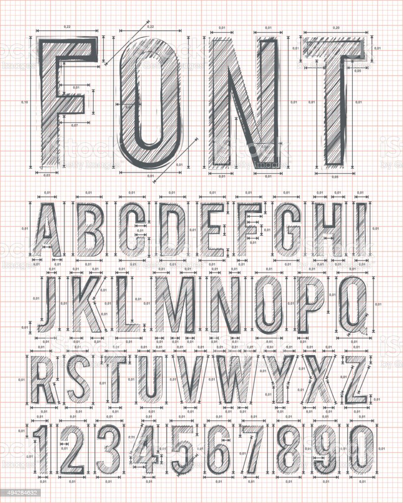 sketch font vector vector art illustration
