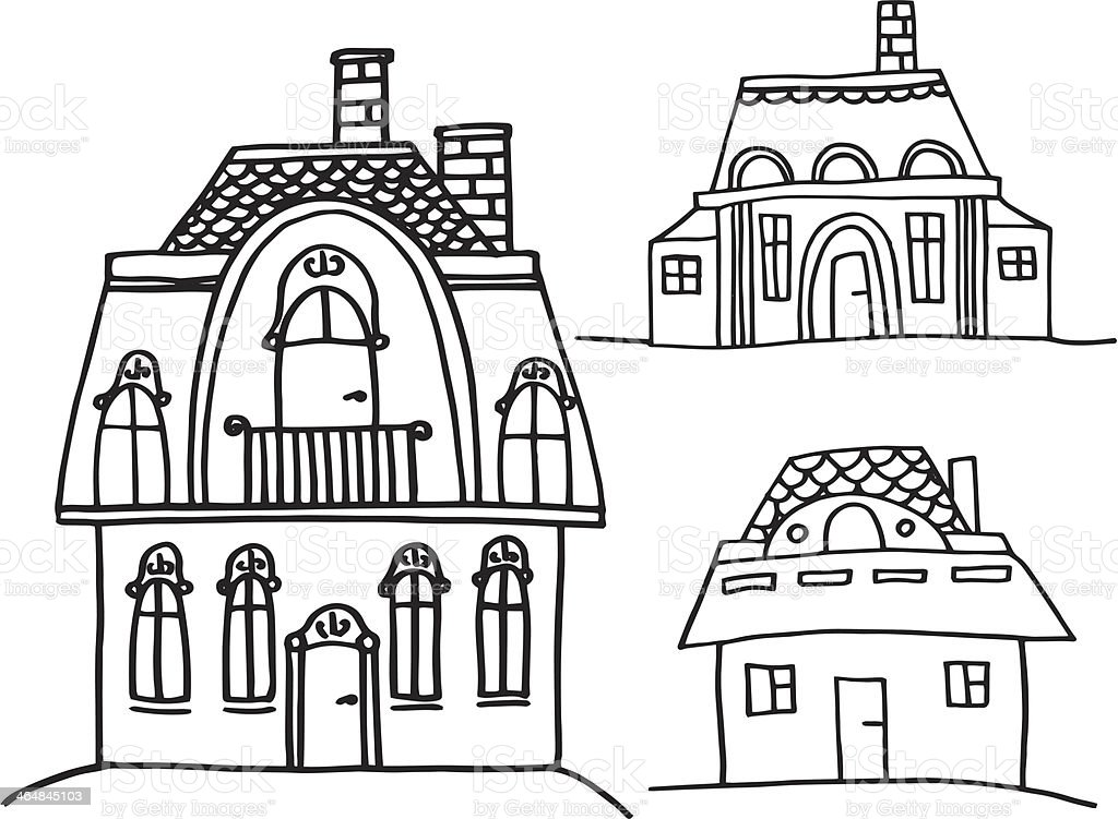 sketch houses royalty-free stock vector art