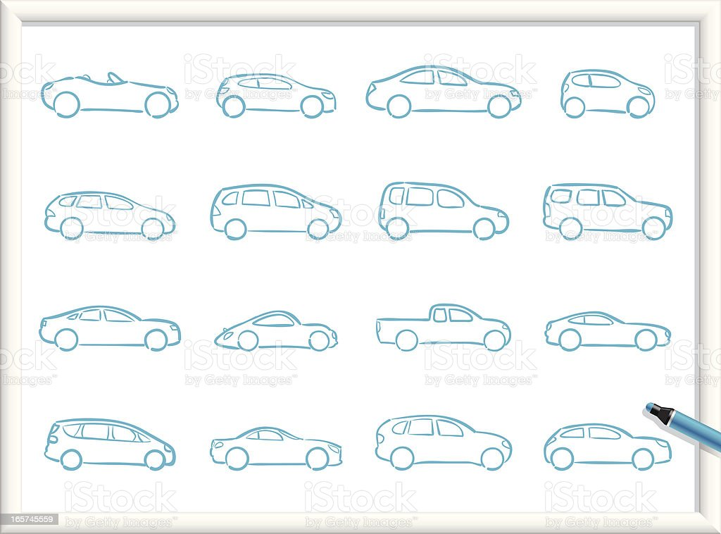 Sketch Icons - Cars royalty-free stock vector art