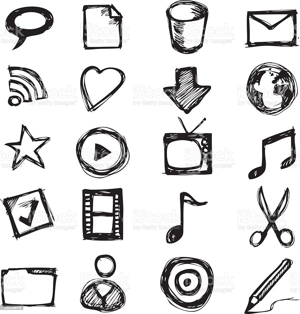 Sketch icons royalty-free stock vector art