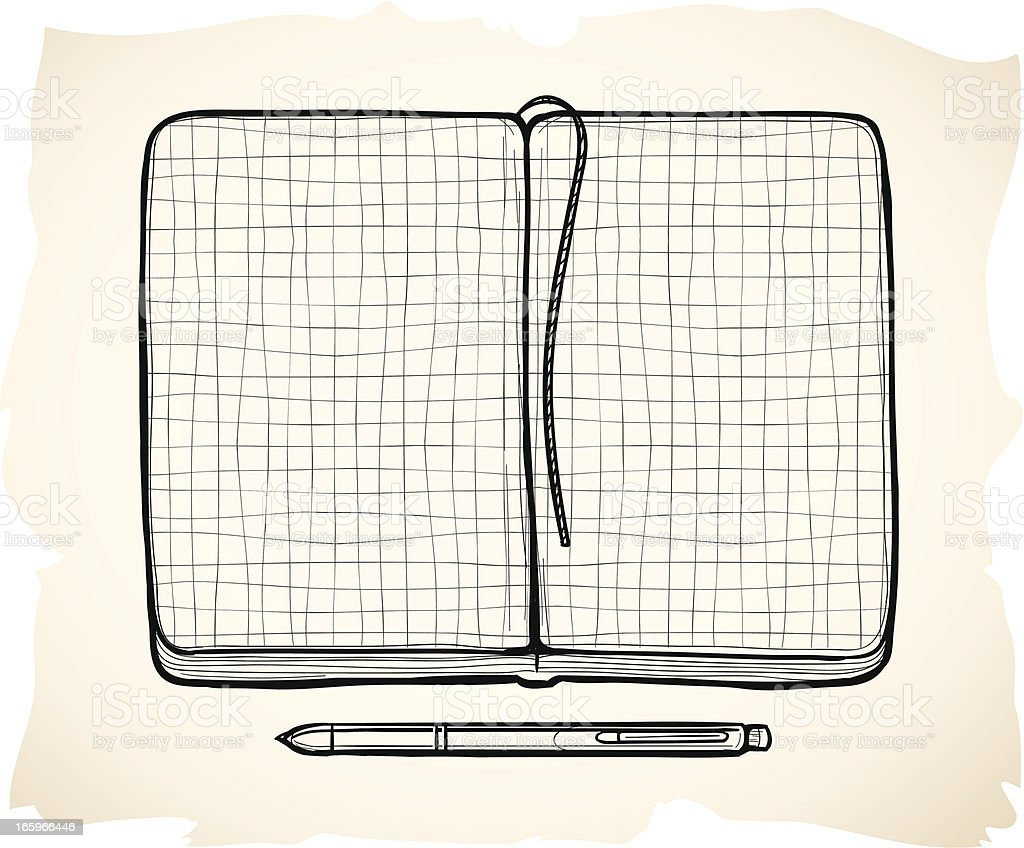 Sketch notebook illustration royalty-free stock vector art