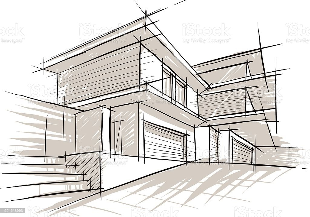 Sketch Of Architecture Stock Vector Art 524513963 Istock