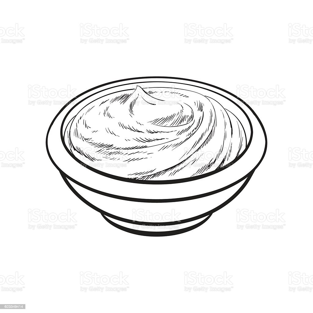 Sketch style drawing of ripe tomato slice vector art illustration