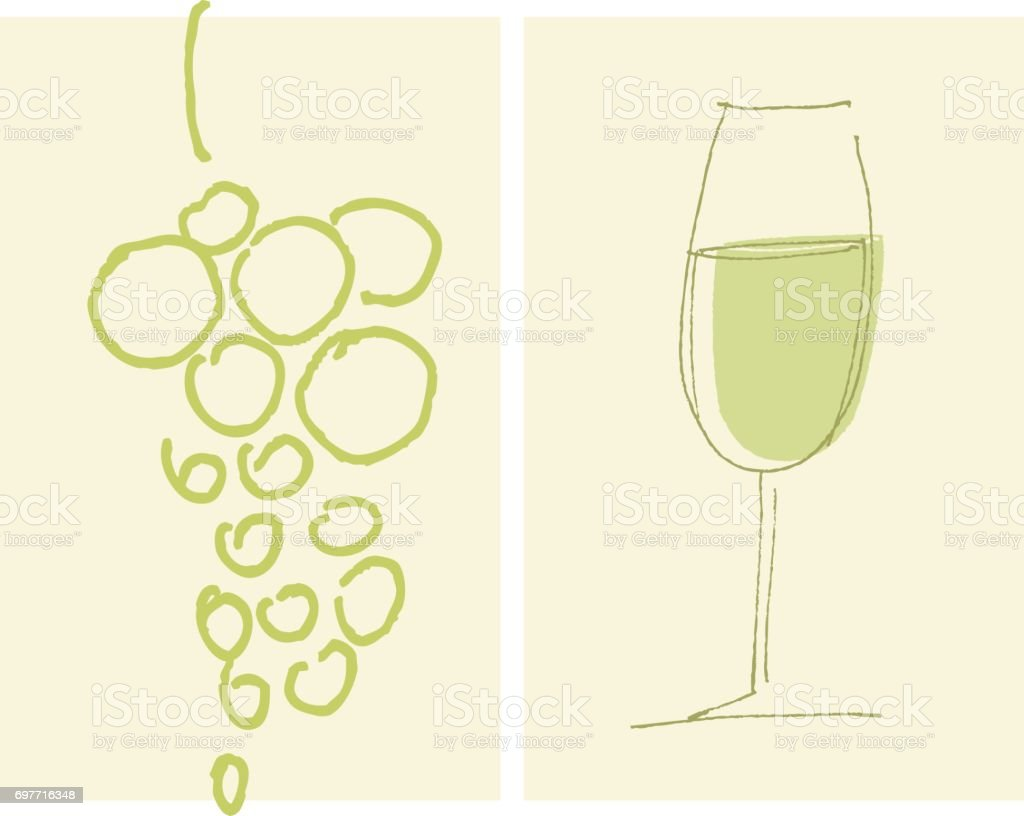 sketch style house-wine label template. grape and wine glass vector hand drawn illustration for poster, cafe and restaurant menu vector art illustration