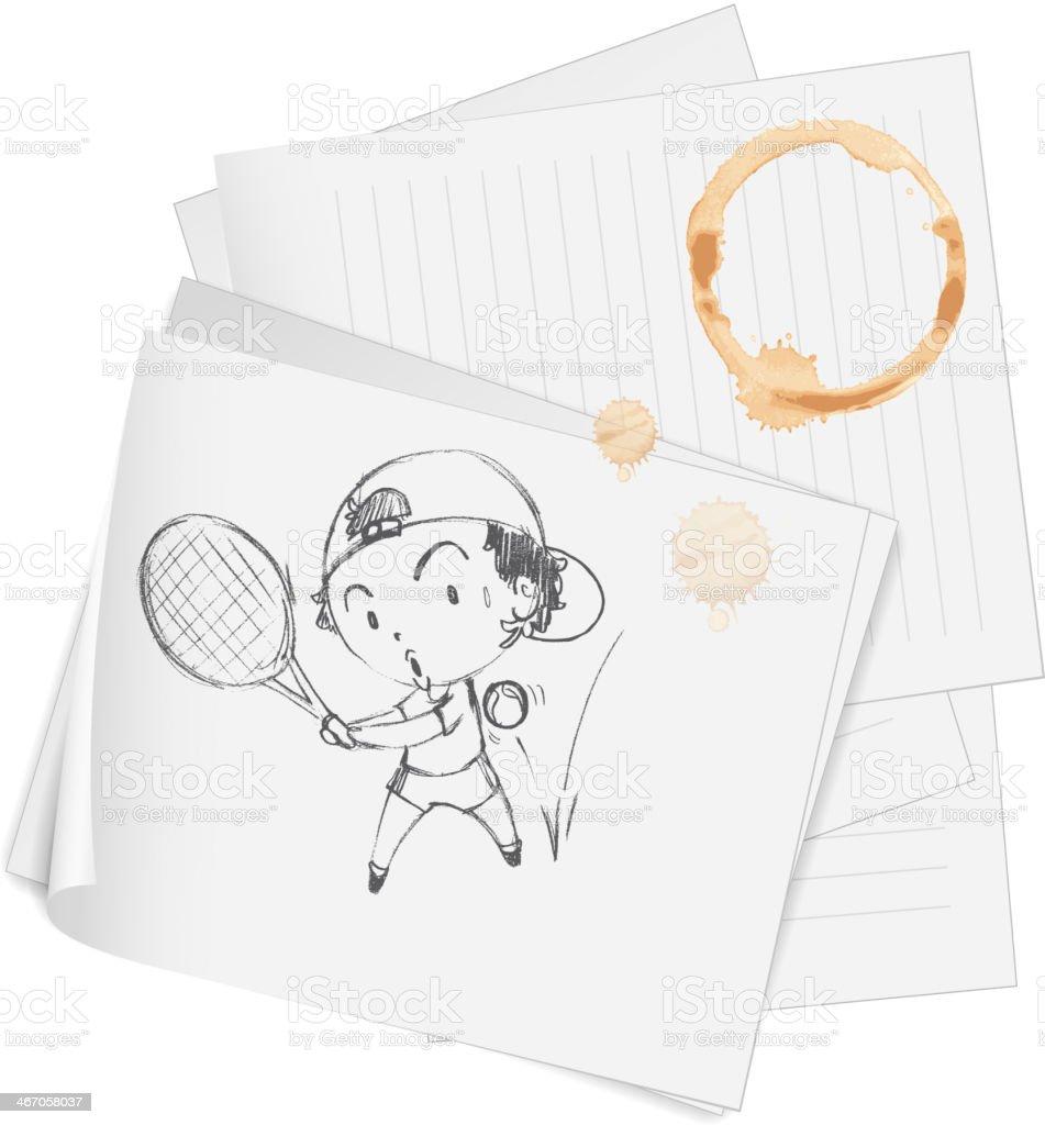 Sketch royalty-free stock vector art