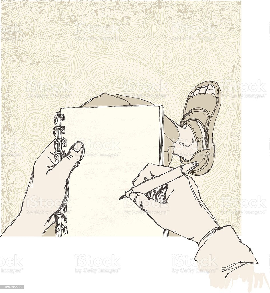 Sketching a Sketch vector art illustration