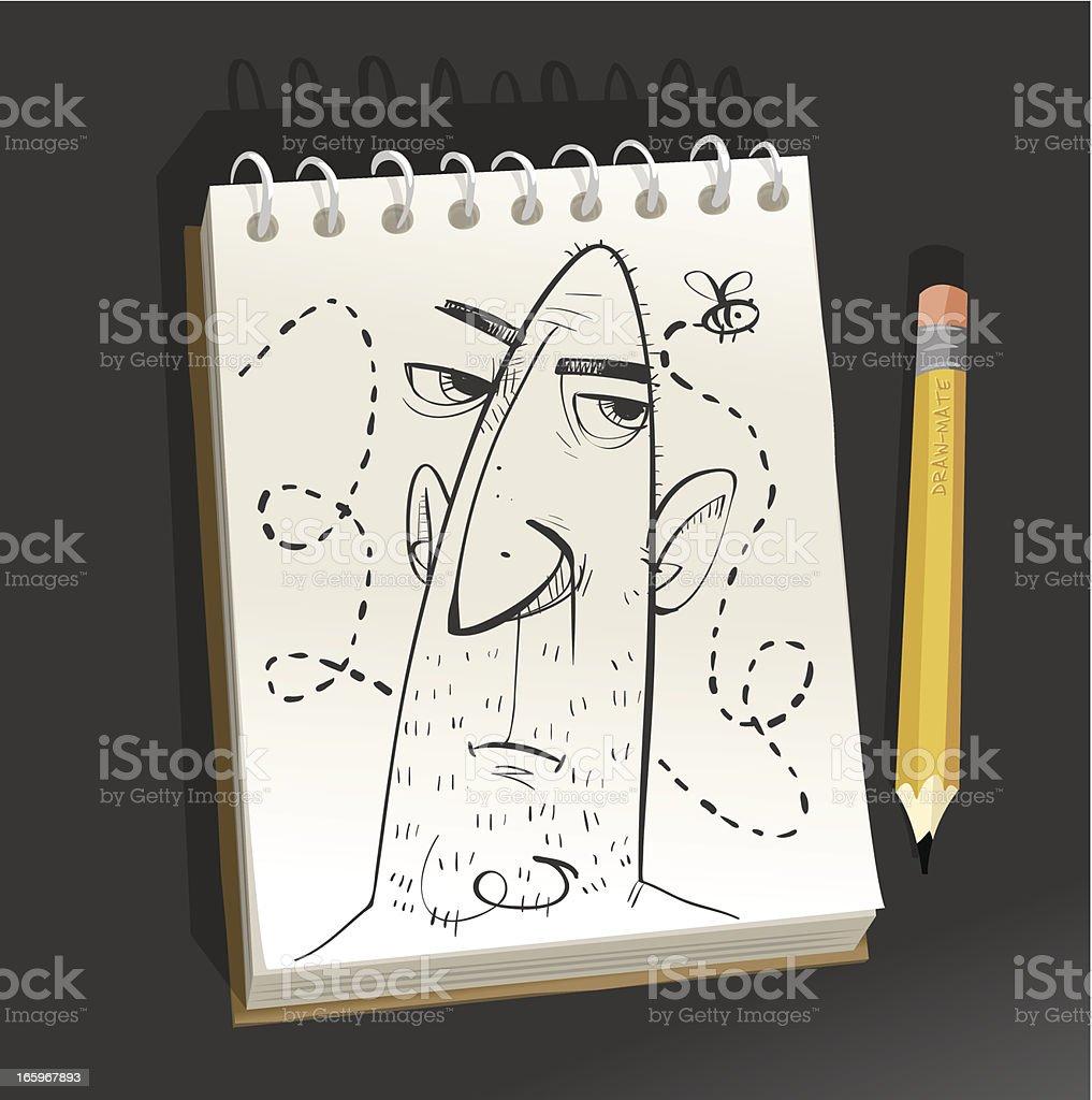 Sketchpad - Bee Buzz royalty-free stock vector art